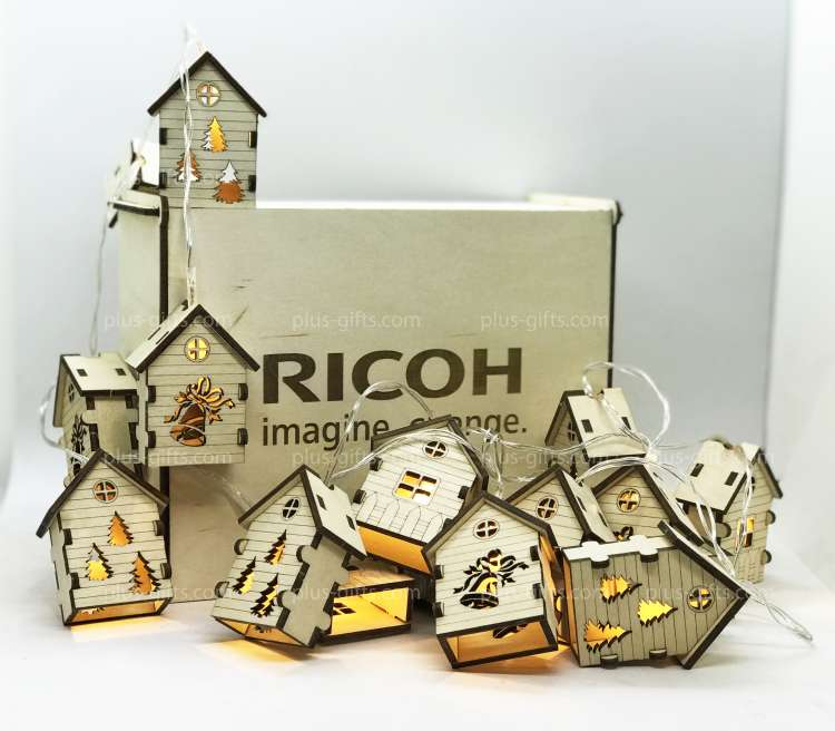 Houses-garlands in the case Ricoh